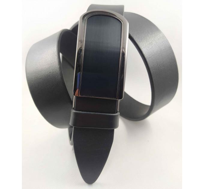 Мужской ремень с пряжкой зажим Millennium AZ35-059 черный