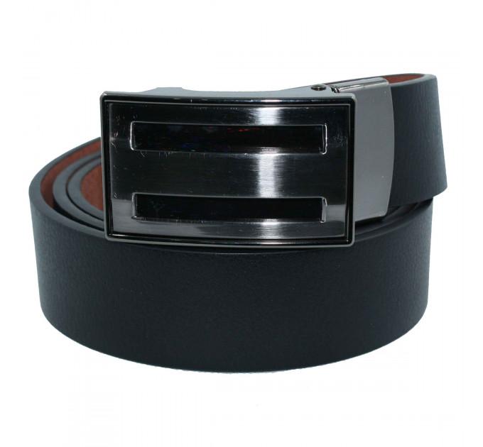 Мужской ремень с пряжкой автомат-зажим AZ35-006 черный