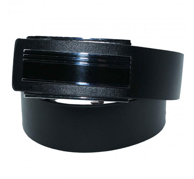 Мужской ремень с пряжкой автомат-зажим AZ35-016 черный