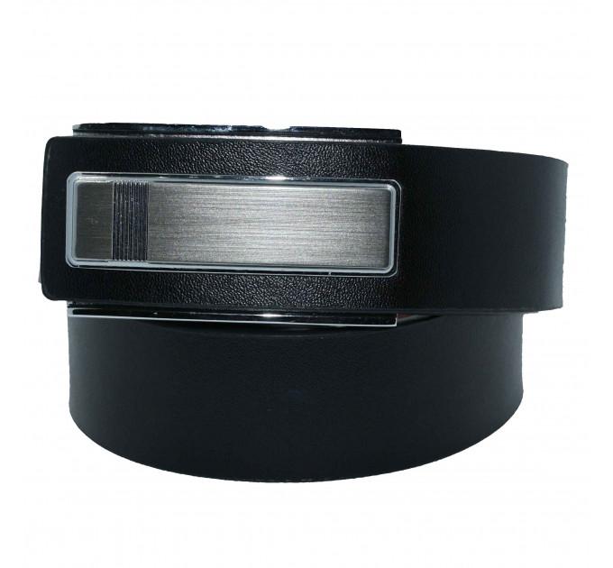 Мужской ремень с пряжкой автомат-зажим AZ35-018 черный