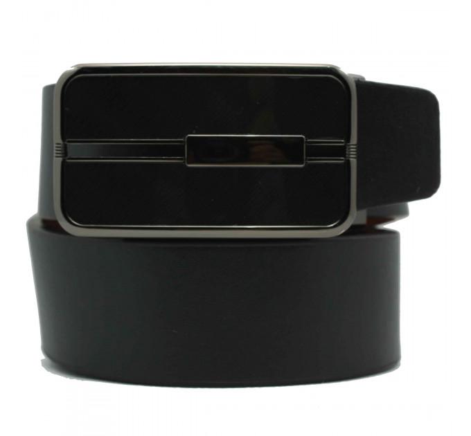 Мужской ремень с пряжкой автомат-зажим AZ35-023 черный