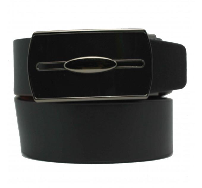 Мужской ремень с пряжкой автомат-зажим AZ35-024 черный