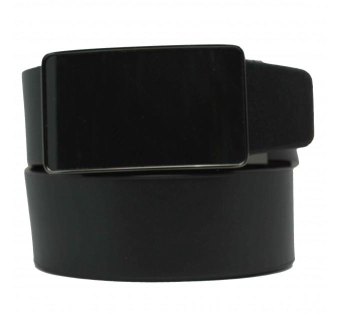 Мужской ремень с пряжкой автомат-зажим AZ35-025 черный