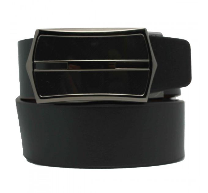 Мужской ремень с пряжкой автомат-зажим AZ35-026 черный