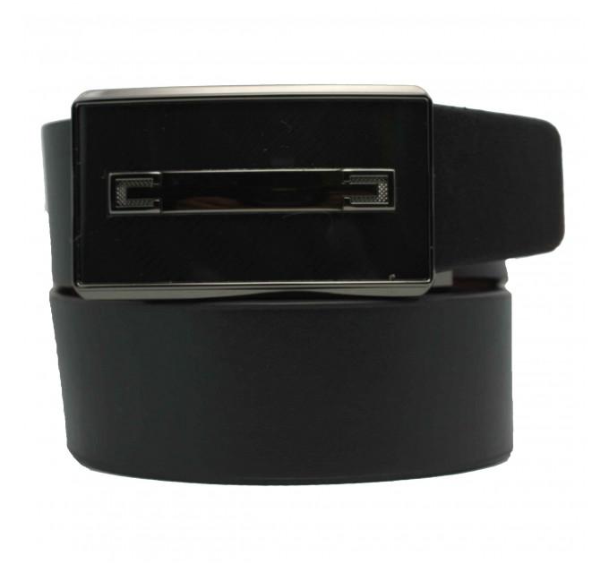 Мужской ремень с пряжкой автомат-зажим AZ35-028 черный