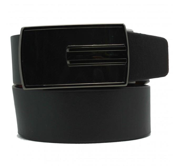 Мужской ремень с пряжкой автомат-зажим AZ35-031 черный