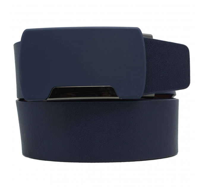 Мужской ремень с пряжкой автомат-зажим AZ35-032 синий