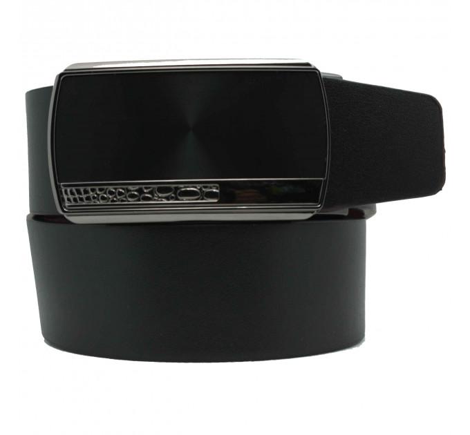 Мужской ремень с пряжкой автомат-зажим AZ35-038 черный