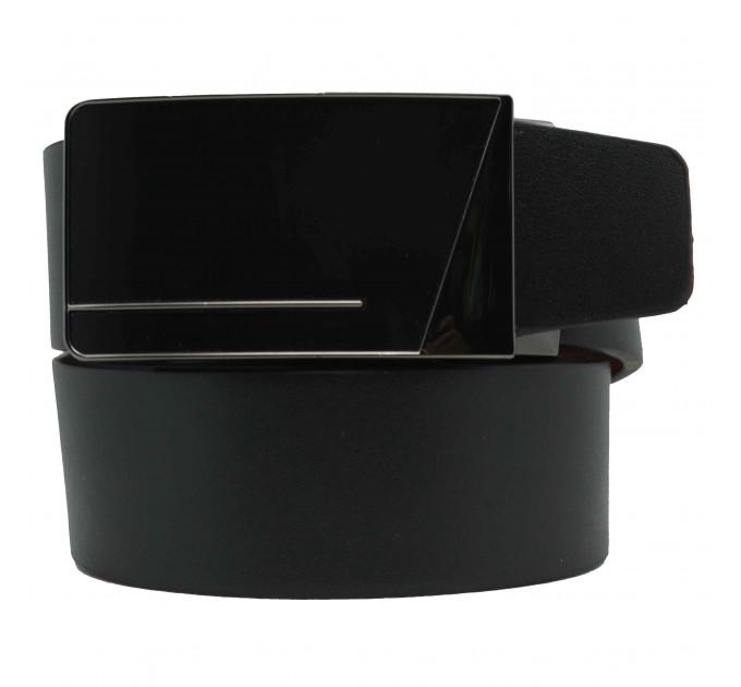 Мужской ремень с пряжкой автомат-зажим AZ35-039 черный