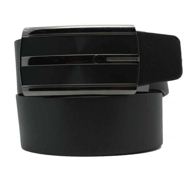 Мужской ремень с пряжкой автомат-зажим AZ35-040 черный