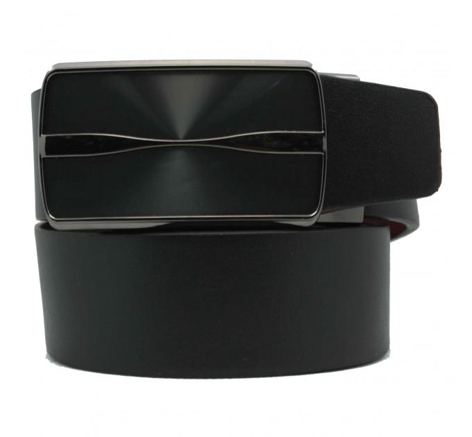 Мужской ремень с пряжкой автомат-зажим AZ35-041 черный