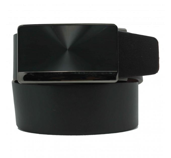 Мужской ремень с пряжкой автомат-зажим AZ35-043 черный