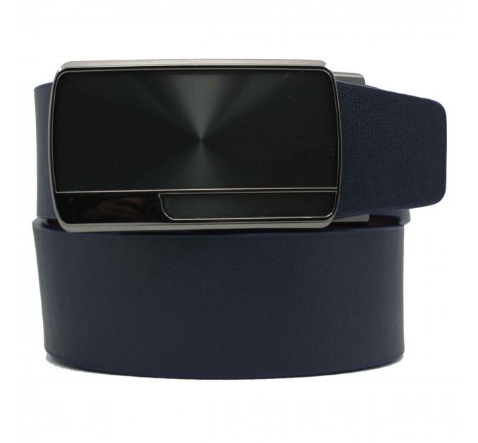 Мужской ремень с пряжкой автомат-зажим AZ35-044 синий