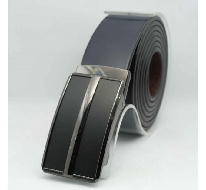 Мужской ремень с пряжкой автомат-зажим AZ35-049 батал черный