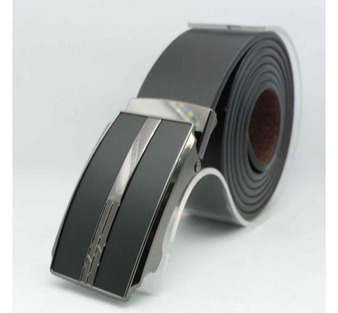 Мужской ремень с пряжкой автомат-зажим AZ35-052 батал черный