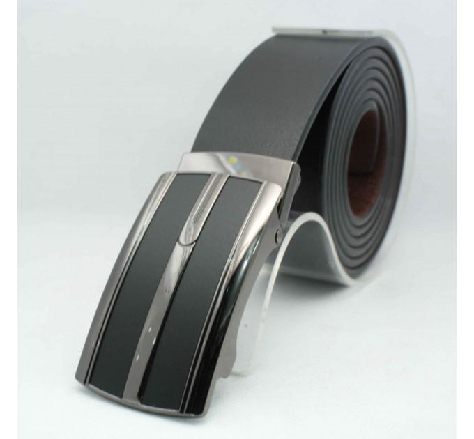 Мужской ремень с пряжкой автомат-зажим AZ35-054 батал черный