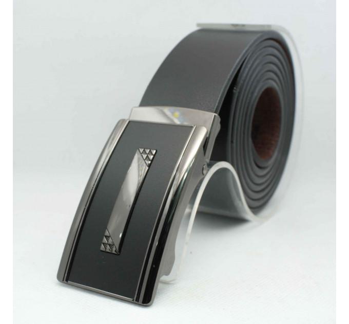 Мужской ремень с пряжкой автомат-зажим AZ35-057 батал черный