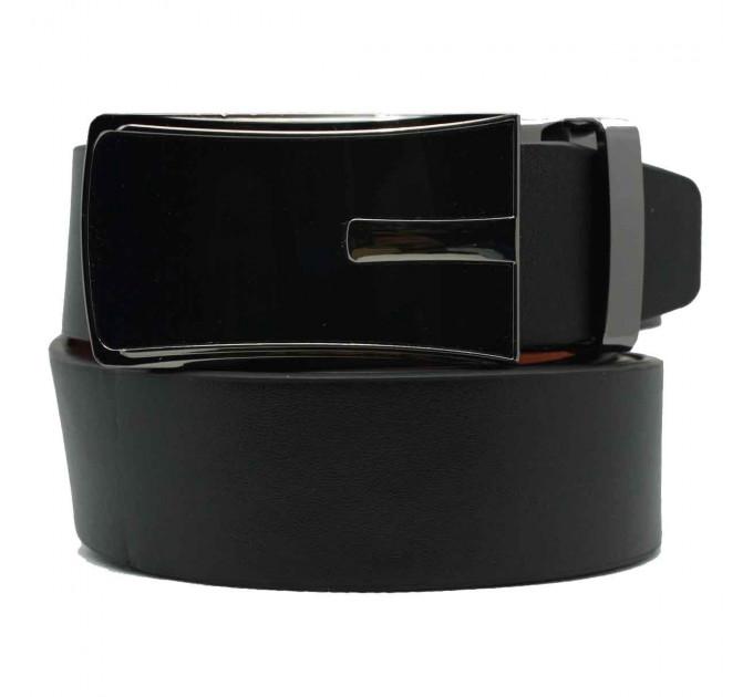 Мужской ремень с пряжкой автомат-зажим AZ30-003 черный