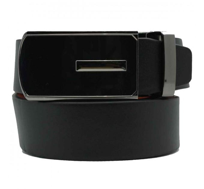 Мужской ремень с пряжкой автомат-зажим AZ30-005 черный