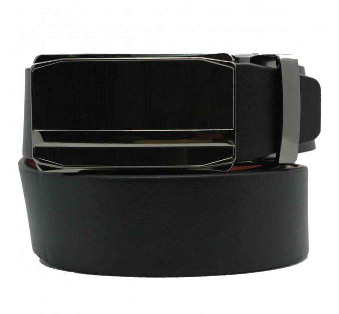 Мужской ремень с пряжкой автомат-зажим AZ30-007 черный