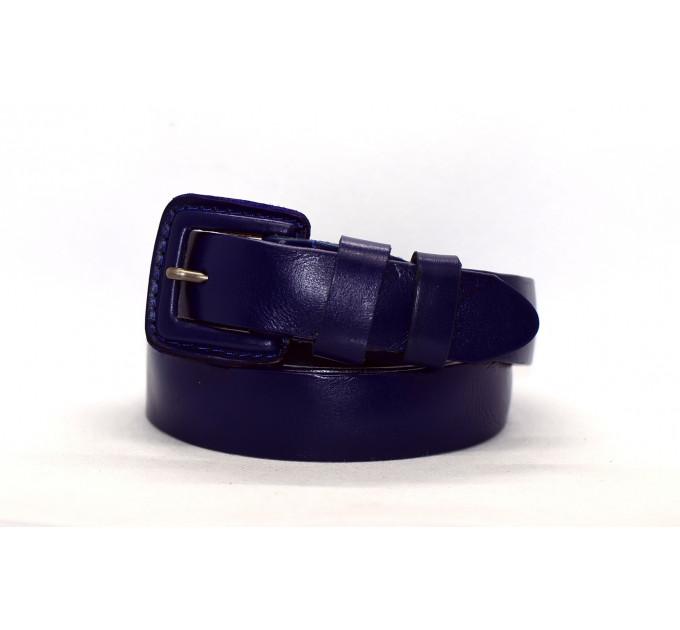 Женский ремень J30-006 темно-синий