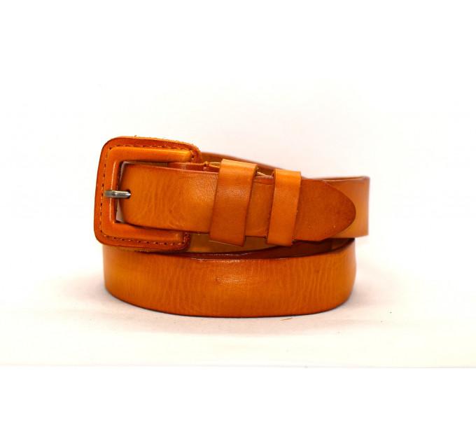 Женский ремень J30-009 оранжевый