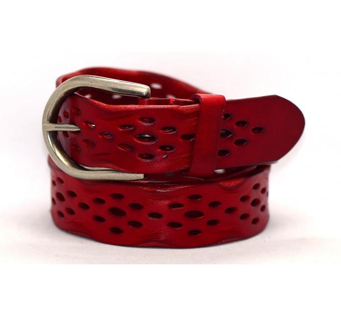 Женский ремень для джинсов J35-001 красный