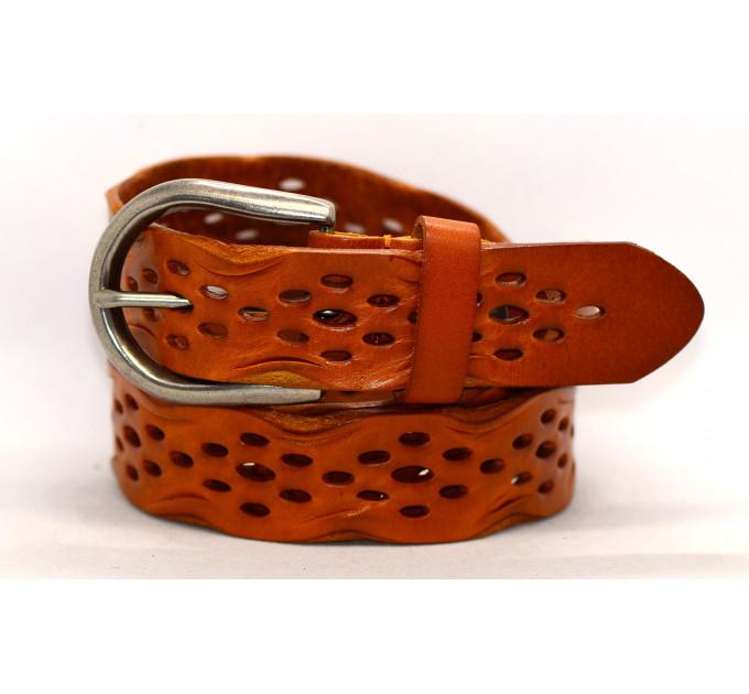 Женский ремень для джинсов J35-003 коричневый