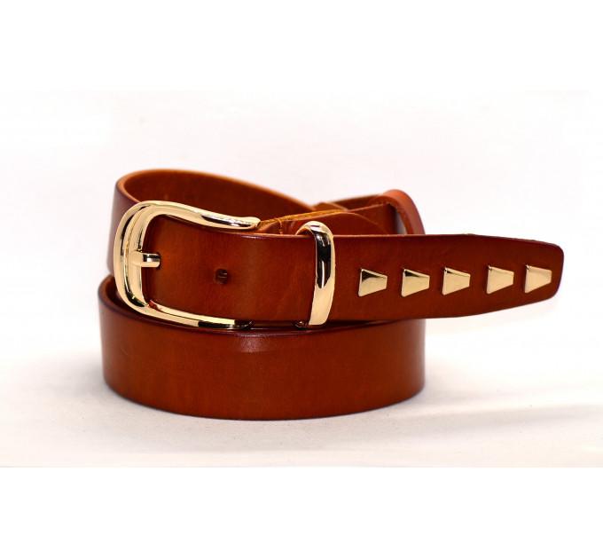 Женский ремень для джинсов J35-010 коричневый