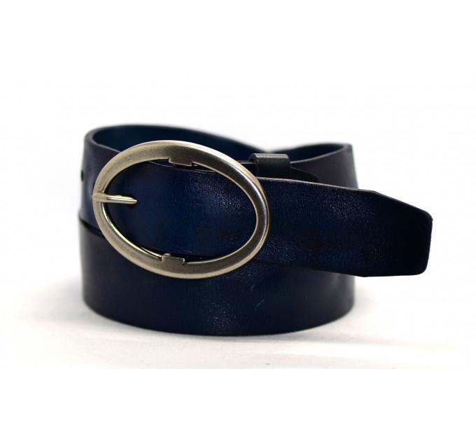 Женский ремень для джинсов J40-005 темно-синий