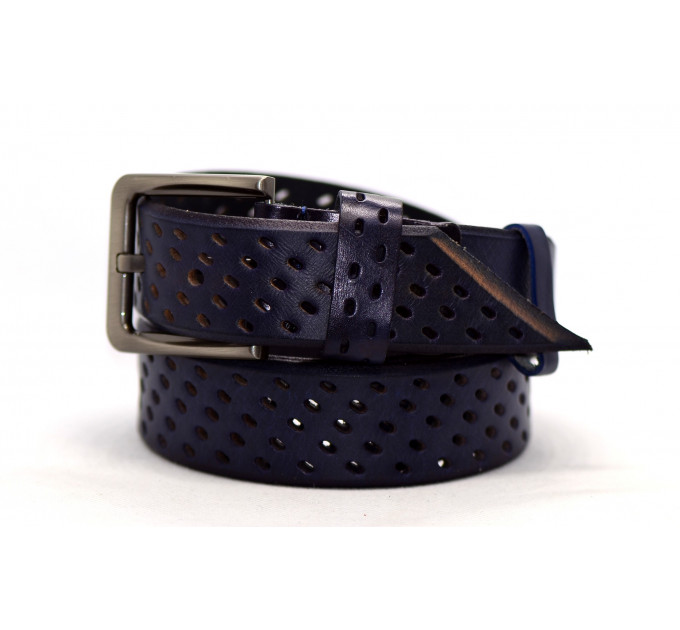 Женский ремень для джинсов J40-015 темно-синий