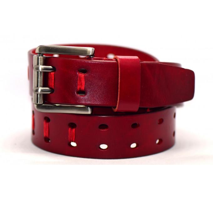 Женский ремень для джинсов J40-035 красный