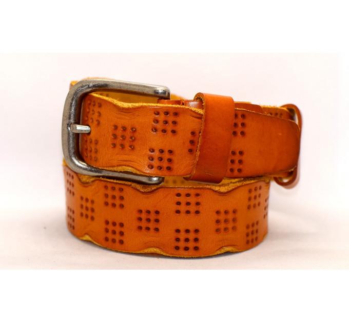 Женский ремень для джинсов J40-055 оранжевый