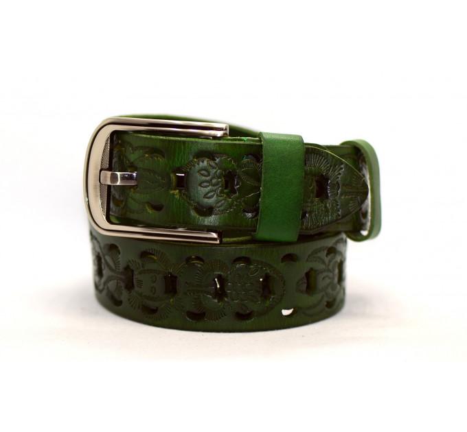 Женский ремень для джинсов J40-061 зеленый