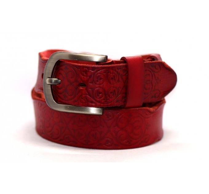 Женский ремень для джинсов J40-069 красный