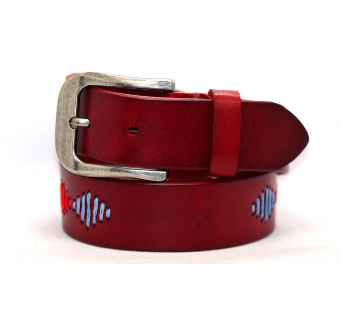 Женский ремень для джинсов J40-086 красный