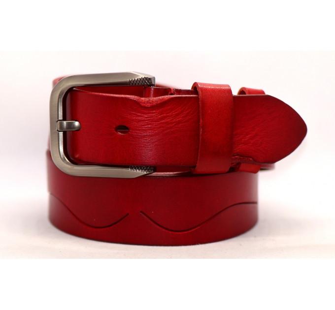 Женский ремень для джинсов J40-093 красный