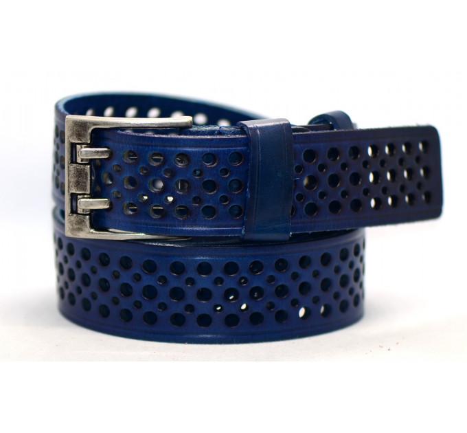 Женский ремень для джинсов J40-100 синий