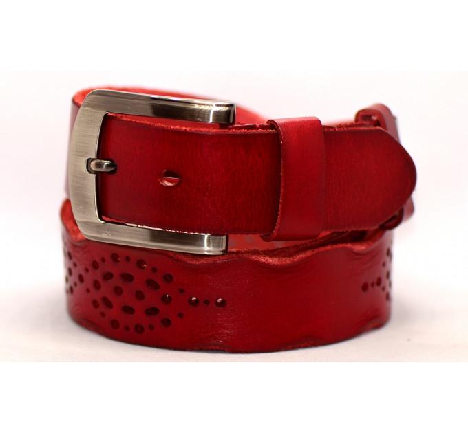 Женский ремень для джинсов J40-110 красный