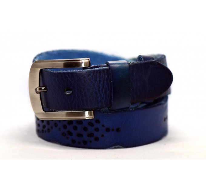Женский ремень для джинсов J40-111 синий
