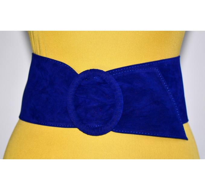 Широкий женский ремень GK-005 синий