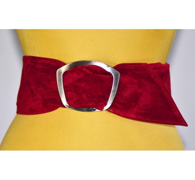 Широкий женский ремень GK-012 красный