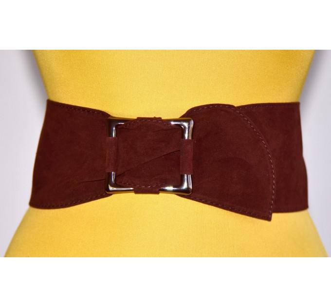 Широкий женский ремень GK-015 коричневый