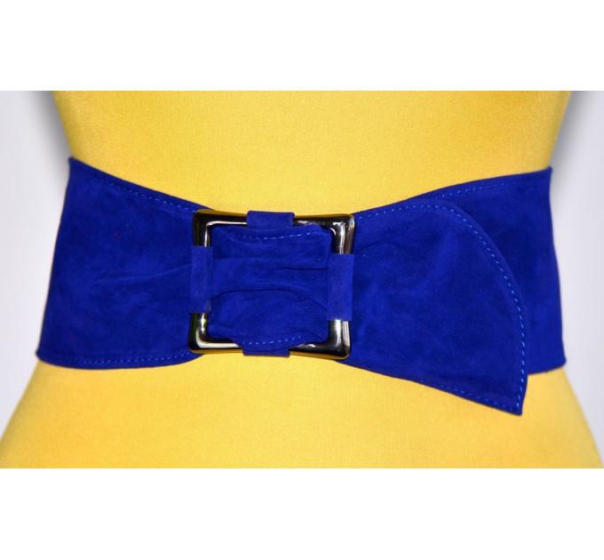 Широкий женский ремень GK-016 синий