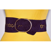 Широкий женский ремень GK-022 фиолетовый