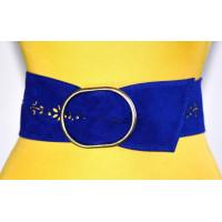 Широкий женский ремень GK-026 синий