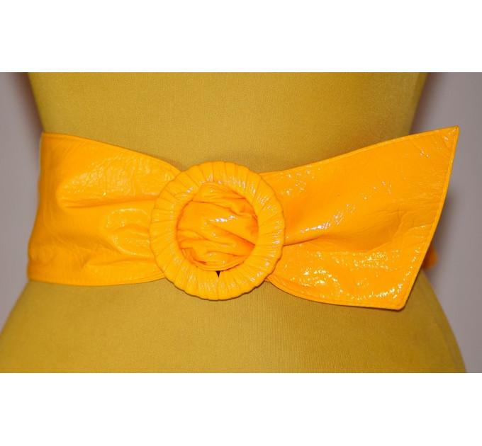 Широкий женский ремень GK-029 желтый