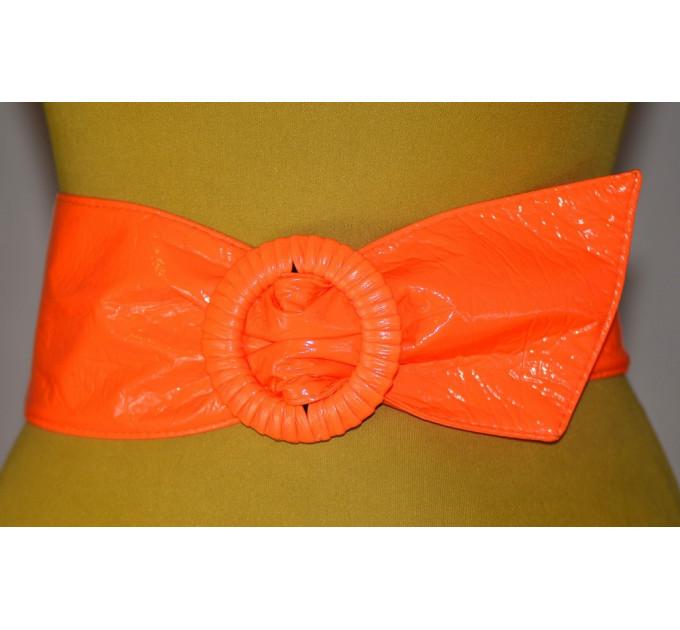 Широкий женский ремень GK-030 оранжевый