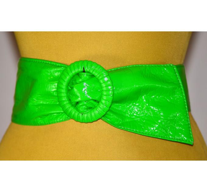 Широкий женский ремень GK-032 зеленый