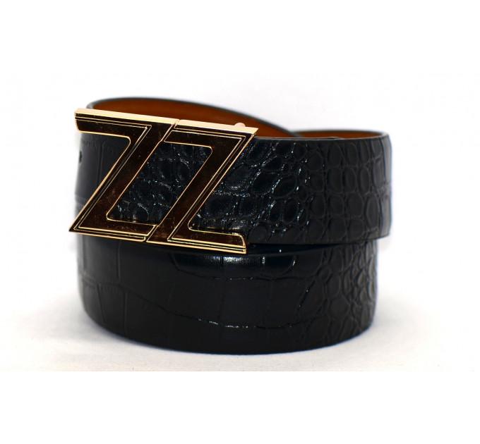 Мужской ремень из искусственной кожи Kz40-035 черный